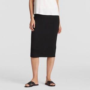Eileen Fisher Black Ponte Pencil Skirt